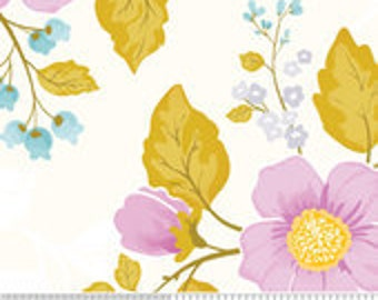 Riley Blake Promenade purple floral by Cyndi Walker 1/2 yd.