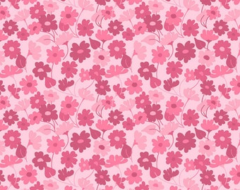 Bohemian Festival - Pink Sprout - C2935- By Lila Tueller for Riley Blake Design - 1/2 Yard