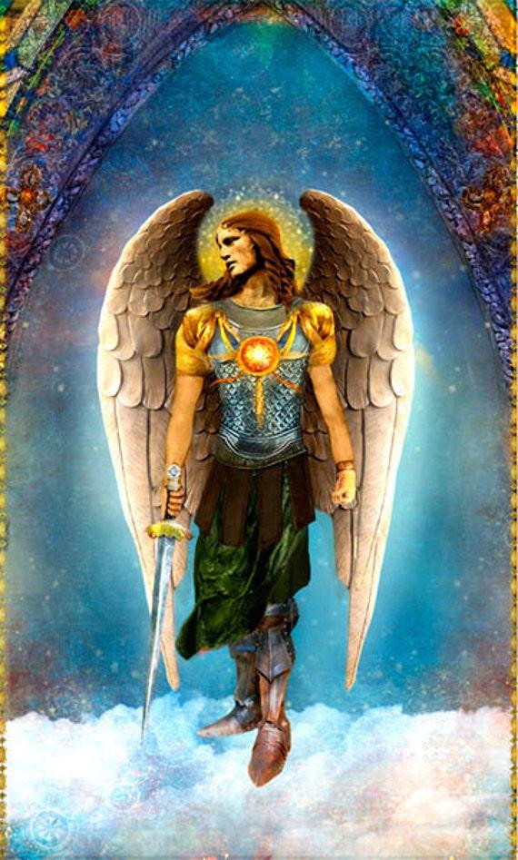 Saint Archangel Michael Poster Print by pocketfullofmiracles