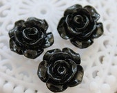 50% off -Wholesale Beautiful   Colorful Rose Flower Resin Cabochon   - -12mm(CAB-AK-27)