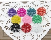 18PCS 9colors Adjustable plated Brass Colorful Filigree Rings jewelry ring blank setting With 25 mm Pad----(RINGSS- ENAM-8)