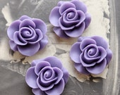 Wholesale Beautiful Colorful Rose Flower Resin Cabochon    --20mm(CAB-S-3)