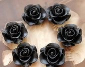 Wholesale Beautiful  Colorful Rose Flower Resin Cabochon   --20mm(CAB-S -28)