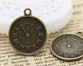 Last-BIG SALE-20pcs Antique Bronze plated Charms/Pendants-( watch )  28x18mm (HAB-162)