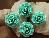 Limited discount Buy 1 Get 1 Free 20pcs Wholesale Beautiful Colorful Rose Flower Resin Cabochon  --20mm(CAB-BS-21)