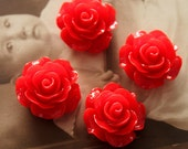 Limited discount Buy 1 Get 1 Free 20pcs Wholesale Beautiful Colorful Rose Flower Resin Cabochon  --20mm(CAB-BS-16)
