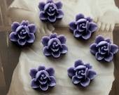 10 PCS  Wholesale Beautiful  Colorful 6-petal Flower Resin Cabochon - -12mm(CAB-I -20)