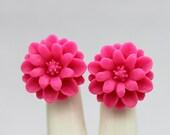 18mm Wholesale Beautiful Colorful Chrysanthemum Flower Cabochon - -18mm (CAB-JA -7)
