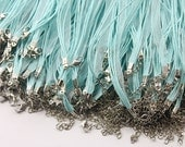 Clearance Big Sale-100pcs 18 in Organza ribbon necklace with lobster claw clasp and 2in extender(CHAINSS-6-3)