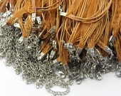Clearance Big Sale-100pcs 18 in Organza ribbon necklace with lobster claw clasp and 2in extender(CHAINSS -6-12)