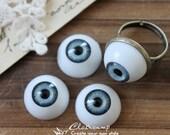 8Pcs 16mm  Resin Eye ball Cabochon -(CAB-CX-16-3)
