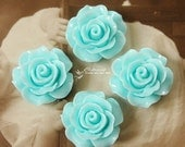 Limited discount Buy 1 Get 1 Free 20pcs Wholesale Beautiful Colorful Rose Flower Resin Cabochon  --20mm(CAB-BS -24)