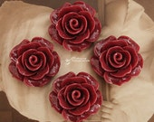 Limited discount Buy 1 Get 1 Free 20pcs Wholesale Beautiful Colorful Rose Flower Resin Cabochon  --20mm(CAB-BS-31)