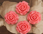 Limited discount Buy 1 Get 1 Free 20pcs Wholesale Beautiful Colorful Rose Flower Resin Cabochon  --20mm(CAB-BS-35)