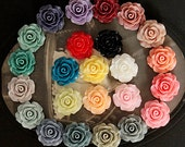 Limited discount Buy 1 Get 1 Free 480PCS  Wholesale Beautiful Mix Colorful Rose Flower Resin Cabochon   -24colors-20mm(CAB-BS-MIXSS-2)
