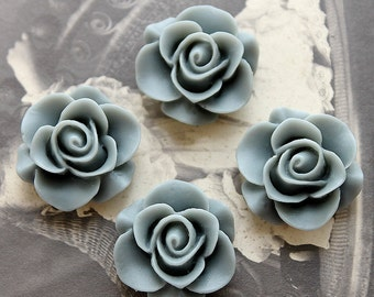 Wholesale Beautiful  Colorful Rose Flower Resin Cabochon --20mm(CAB-S-2)