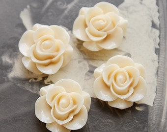 10pcs Wholesale Beautiful Colorful Rose Flower Resin Cabochon    --20mm(CAB-S-5)