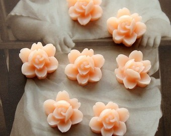 10 PCS  Wholesale Beautiful  Colorful 6-petal Flower Resin Cabochon - -12mm(CAB-I -25)