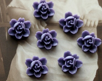 10 PCS  Wholesale Beautiful  Colorful 6-petal Flower Resin Cabochon - -12mm(CAB-I -20)