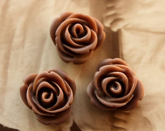 50% off -10pcs Wholesale Beautiful Colorful Rose Flower Resin Cabochon   -  -14mm(CAB-AP-7)