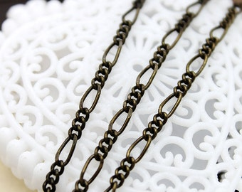 High Quality Chain Antique Bronze Plated   Brass Link  Chains Perfect for  Necklaces and Bracelets (CHAINSS -1)