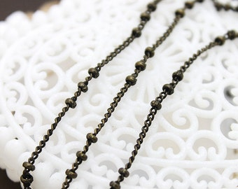 Chain Antique Bronze Plated   Brass Link  Chains Perfect for  Necklaces and Bracelets (CHAINSS-2)