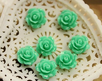 50% off - 10 pcs Wholesale Beautiful  Colorful   Flower Resin Cabochon   - 10mm -(CAB-AX-1)
