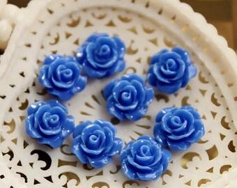 10 pcs Wholesale Beautiful  Colorful   Flower Resin Cabochon   - 10mm -(CAB-AX -8)