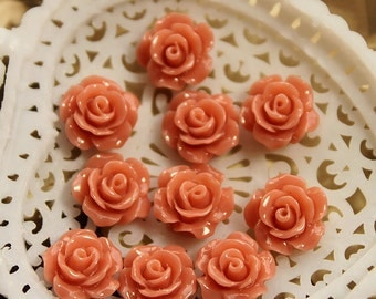 10 pcs Wholesale Beautiful Colorful   Flower Resin Cabochon   - 10mm -(CAB-AX-17)