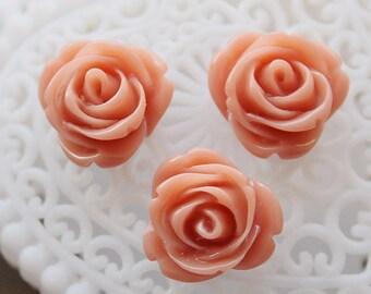 Last 10pcs Wholesale Beautiful  Colorful Rose Flower Resin Cabochon   -  -14mm(CAB-AL-31)