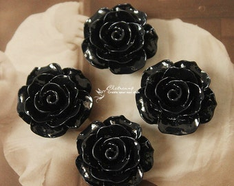 Limited discount Buy 1 Get 1 Free 20pcs Wholesale Beautiful Colorful Rose Flower Resin Cabochon  --20mm(CAB-BS -25)