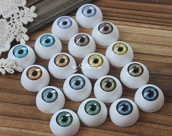 18Pcs 18mm 9colors High quality Resin Eye ball Cabochon -(CAB-CX-18-MIXSS)