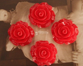 Limited discount Buy 1 Get 1 Free 20pcs Wholesale Beautiful Colorful Rose Flower Resin Cabochon --20mm(CAB-BS-45)
