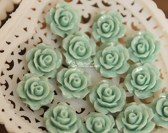50% off - 10 pcs Wholesale Beautiful  Colorful   Flower Resin Cabochon   - 10mm -(CAB-AX-47)