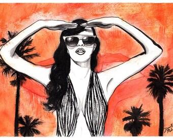 L.A. Burn/ Illustration Print