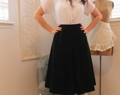 Reserved Layaway Vintage Black Velvet 50's skirt