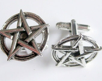 Pentagram Cuff Links