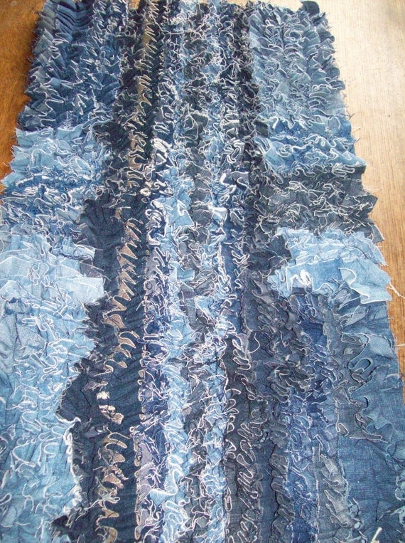 Recycled Denim Scatter Rug Handmade