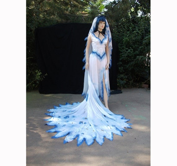 Corpse bride emily costume for Corpse bride wedding dress for sale