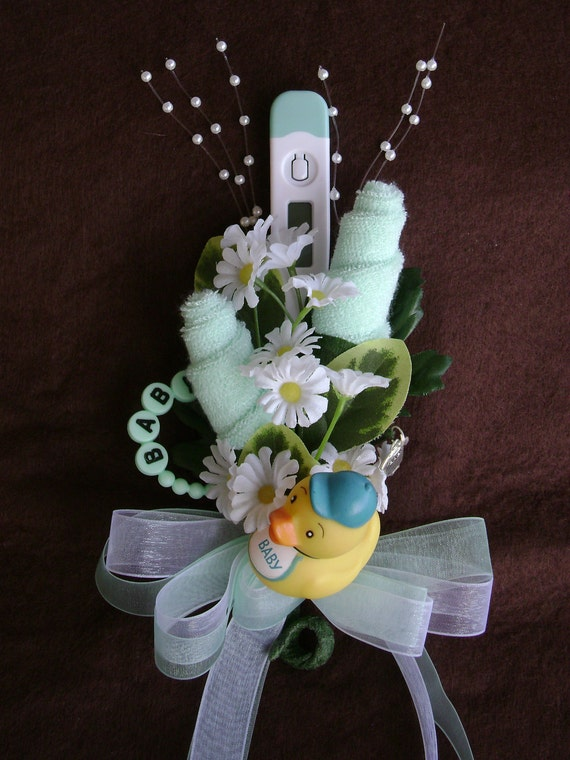 baby washcloth corsage boy or girl baby shower corsage