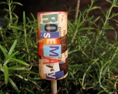 Garden Markers - Wine Corks - Upcycled - Ransom Note - Garden Sign - Plant Markers - Herb Markers