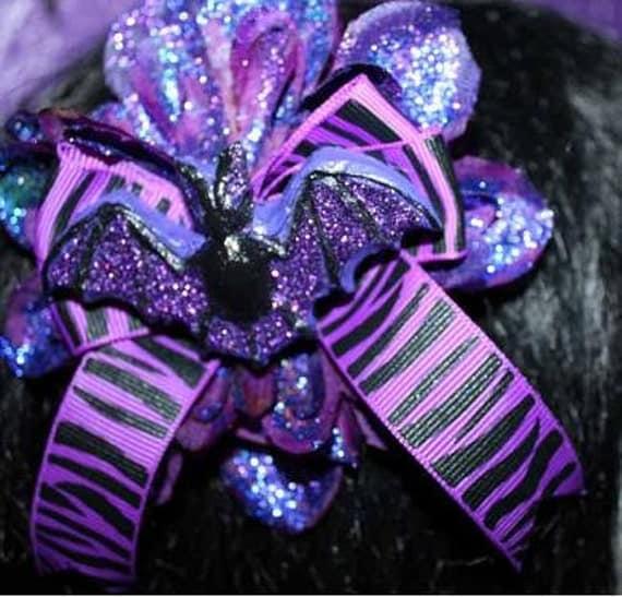 Purple Flower bat Bow