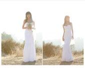 Contoured Bridal Satin Dress