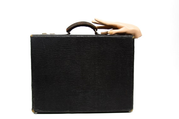 Small Black Case - Vintage - Suitcase - Luggage - Black