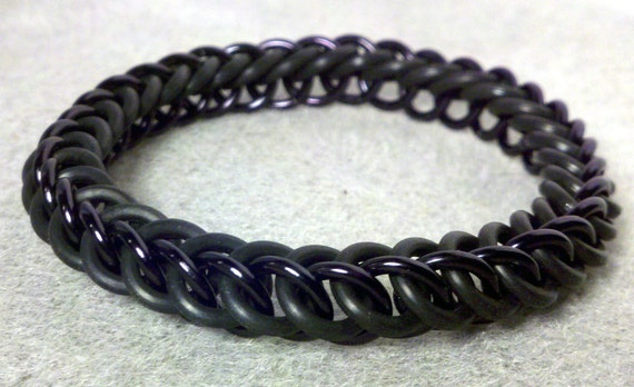 Black and Black Shadow Night Half Persian Bracelet