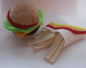 Felt Fast Food Set
