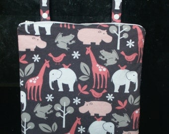 READY TO SHIP- Hanging Stove Wet Bag - Zoology It's a Girl Things