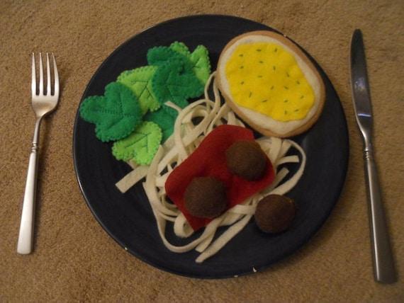 Felt Food Italian Dinner Set