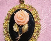 Avon Rose Pendant Vintage