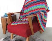 Crocheted Zigzag baby Blanket